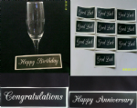 1 - 100  x Happy Birthday & Anniversary, Congratulations & Good Luck word stencil mix